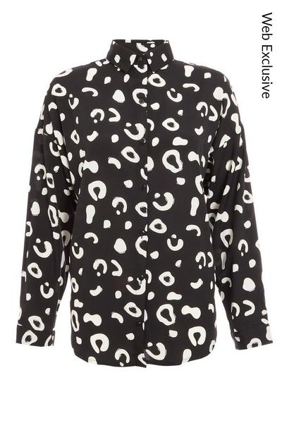 Black and White Animal Print Shirt